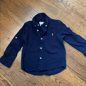 Boys Cotton Pique Ralph Lauren button down sz 24mo
